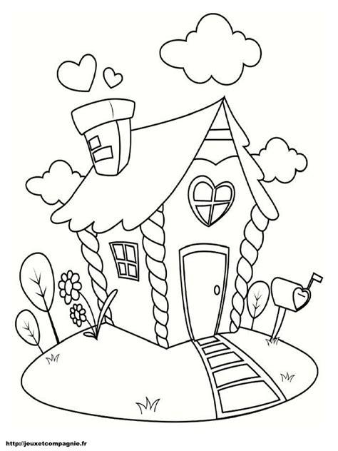 dessin maison a imprimer coloriages de maisons