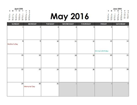 excel calendar planner  printable templates