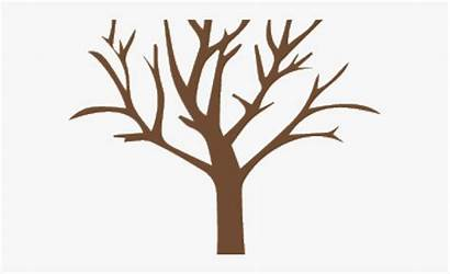 Tree Trunk Clipart Silhouette Clip Leaves Falling