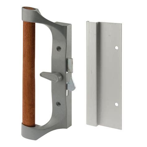 sliding door handles home depot prime line sliding door handle set aluminum and diecast c