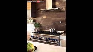 Moderne Fliesen Küche : moderne k che fliesen braun golden stein wand gestalten ~ A.2002-acura-tl-radio.info Haus und Dekorationen