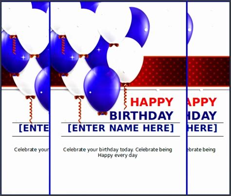 microsoft publisher birthday card templates