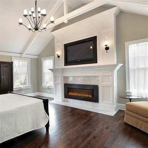 large electric fireplace insert luxurious bedrooms