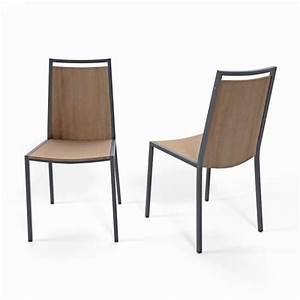 chaise de cuisine en metal et bois concept 4 pieds With fabricant de chaises de cuisine