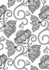 Coloring Pattern Pages Lotus Colouring Printable Flowers Abstract Patterns Flower Sheets Patterned Adults Supercoloring Colour Paper Dot Drawing Categories Gcssi sketch template