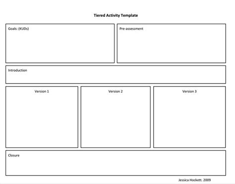 Tiered Planning Template by Tierred Instruction Template Lesson Plans Pinterest