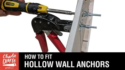 fit hollow wall anchors youtube