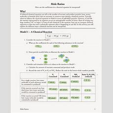 Mole Ratio Worksheet Chemistry Answers Free Worksheets Library  Download And Print Worksheets