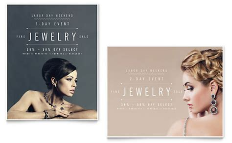 jeweler jewelry store brochure template design
