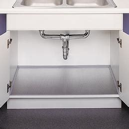 kitchen sink liner polished aluminum undersink liner space saving ideas 2768