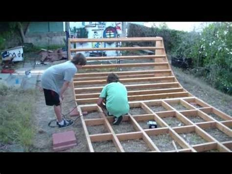 Building A Halfpipe In Your Backyard by How To Build A Bmx Bike Half Pipe Rs Bmx