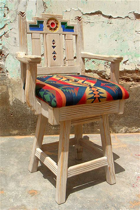 Southwestern New Mexican Barstools, Bar Furniture