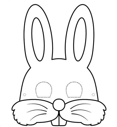 animal mask templates 9 bunny templates pdf doc free premium templates