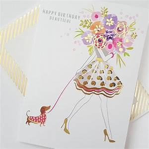 Hand Finished Happy Birthday Beautiful Birthday Card ...