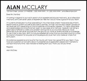 Memo Sample Bicycle Mechanic Cover Letter Sample Cover Letter