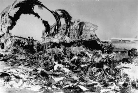tenerife plane collision crash jet barrier caused jumbo language scene partly nydailynews