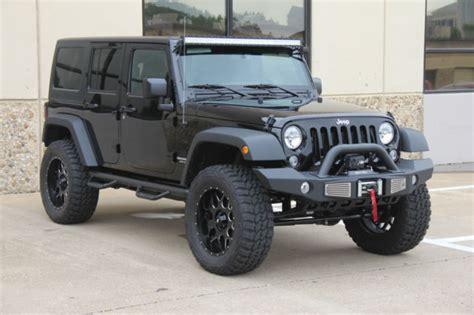black jeep 4 door 2015 black jeep wrangler 4 door lifted on 35s 8 miles