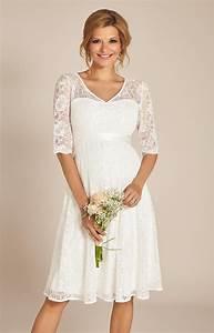 Flossie Umstands Hochzeitskleid Kurz Elfenbein