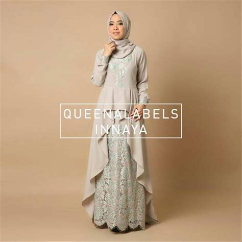 jual inayah dress  queenalabels dress pesta muslimah