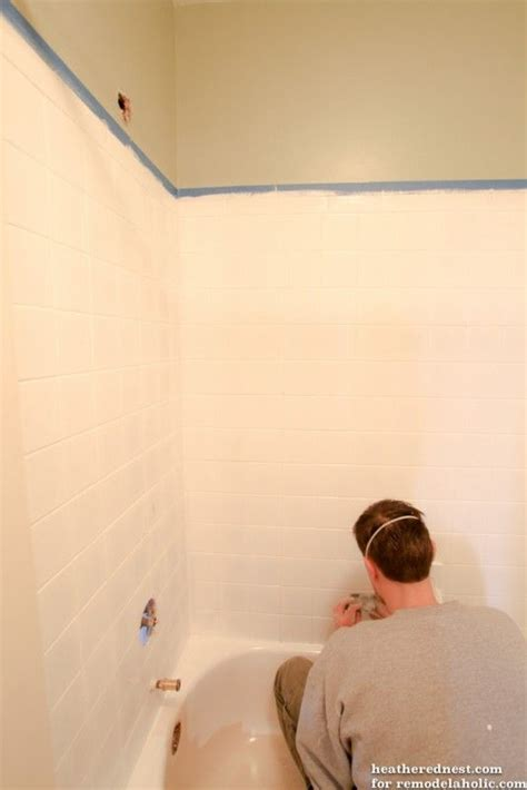 diy tub  tile reglazing project lighten  brighten