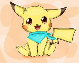 Chibi Pikachu with Bandana by PikachuWarrior on DeviantArt