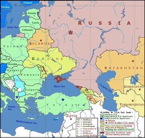geopolitical map  crimea ukraine russia  europe