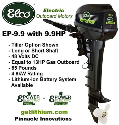 Electric Boat Motor With Battery by Elco Motor Yachts 48 Volt 9 9 Hp Electric Outboard Motor