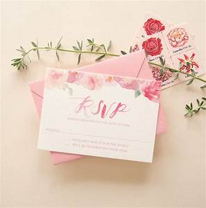 pink floral watercolor wedding invitations With beautiful wedding invitation watercolor flowers