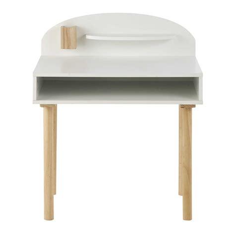 bureau blanc et bois bureau enfant en bois blanc l 70 cm nuage maisons du monde