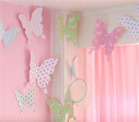Pottery Barn Butterfly Wall Decor by Butterfly Template For Room Print On Pretty Paper