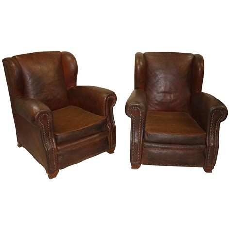 leather club chair pair of leather club chairs for at 1stdibs 6887