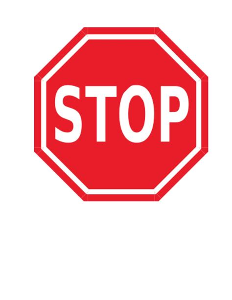 stop sign stop sign behavior management technique classroom freebies