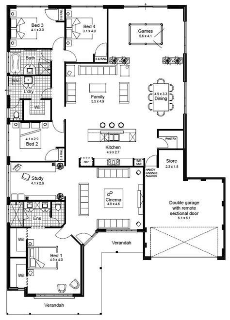 australian house plans ideas  pinterest single storey house plans house plans