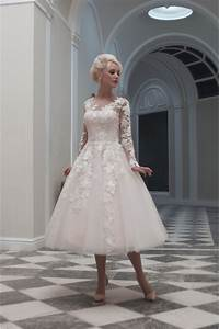 house of mooshki charlotte tea calf length short lace With calf length wedding dresses