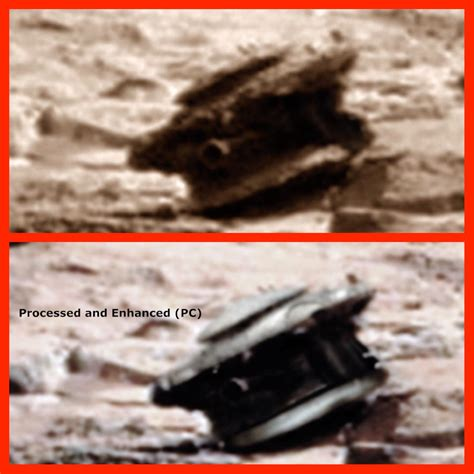 A crashed Alien Drone has been photographed on Mars by ...