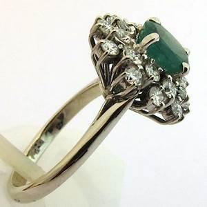 bijoux vintage paris bague emeraude diamants vintage With bijoux vintage