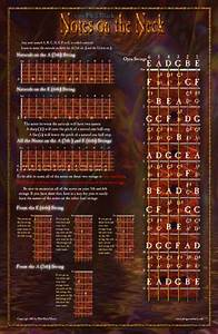 Bass Neck Notes Chart Guitar Posters Phil Black