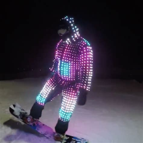 snowboard led lights waterproof snowboard ski led costume 187 petagadget