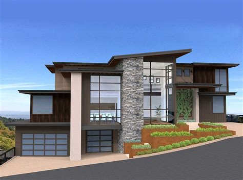 exclusive  unique modern house plan ms architectural designs house plans