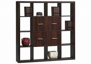 Bibliothèque 4 Cases : biblioth que 12 cases 4 portes style weng rangement ~ Teatrodelosmanantiales.com Idées de Décoration