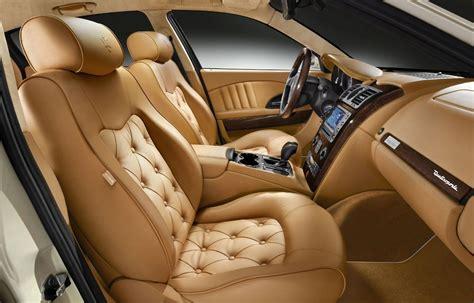 luxury cars inside maserati quattroporte collezione cento interior1