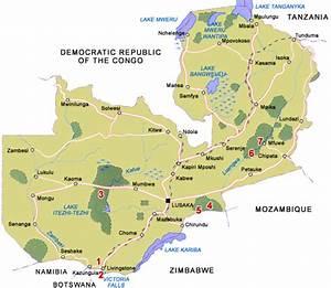 Zambia Map and Zambia Satellite Images