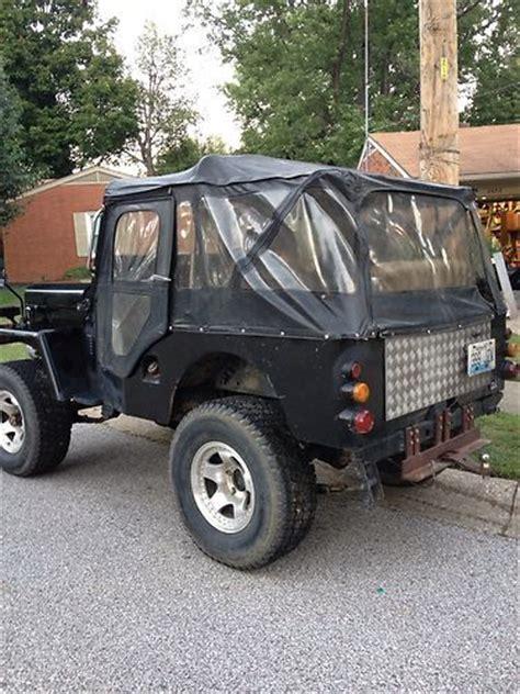 mitsubishi j54 buy used 1980 mitsubishi j54 diesel jeep like cj3b in