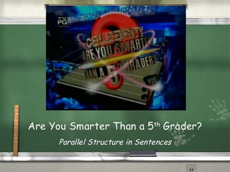 Are You Smarter Than A 5th Grader Powerpoint Template by Measurements 5th Grader