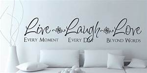 live laugh love wall quote saying With live laugh love letters wall