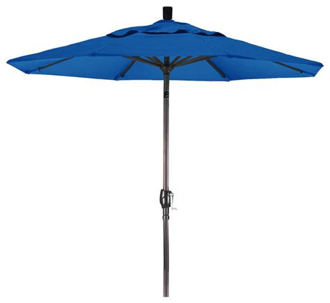 patio umbrella aluminum pole 7 5 foot olefin aluminum crank lift push tilt patio