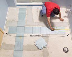 Laying Tiles In Bathroom by Install A Ceramic Tile Floor In The Bathroom Vinyl