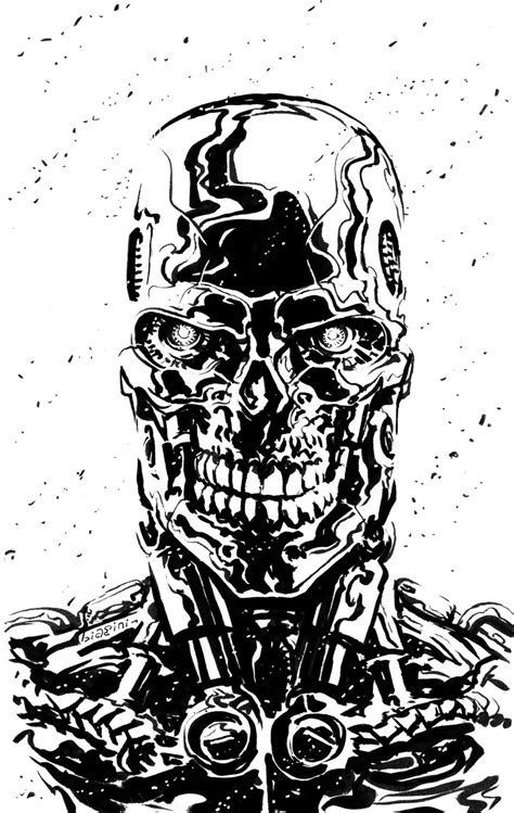 Terminator - Judgement Day by Francesco Biagini | Terminator, Terminator tattoo, Movie art