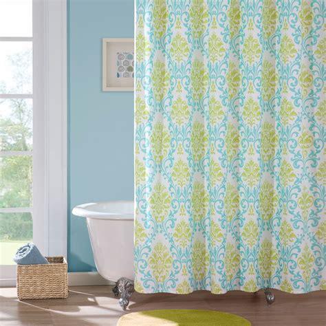 Yellow And Aqua Shower Curtain Curtain Menzilperdenet