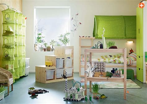 Green Kids Room Ikea  Interior Design Ideas